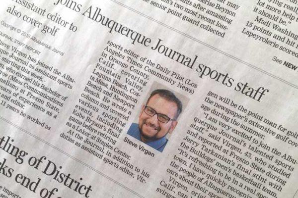 Albuquerque Journal Sports Page Feb. 1, 2018