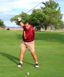 Bobby Baca who is a former champion one-arm golfer