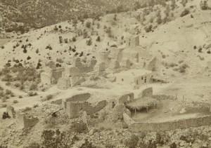 The ruins circa 1877. Photo by John K. Hillers.