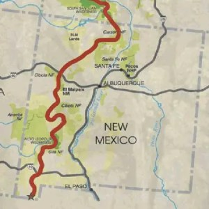 Continental Divide Trail map of New Mexico