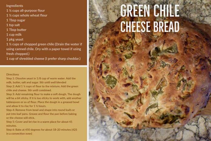 Green Chile Cheese Bread recipe