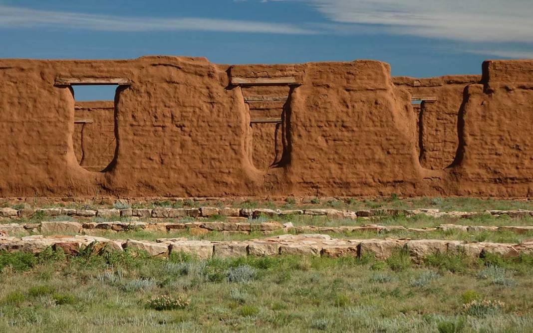 Fort Union adobe walls