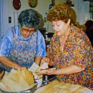 Frances Atencio making tamales