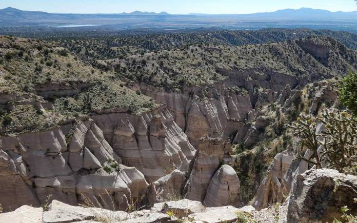 Canyon and tent rocks from the overlook