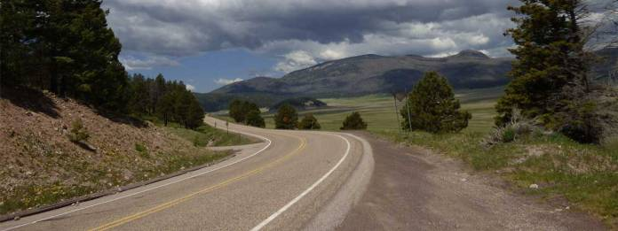 Highway 4 by the Valles Caldera