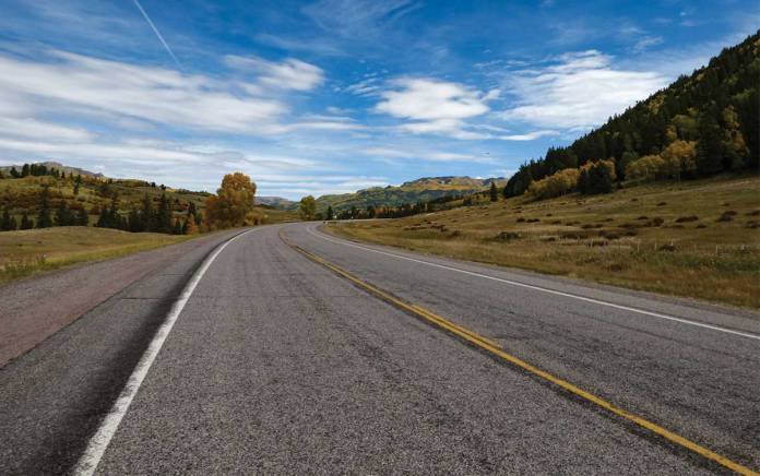 Road north of Chama in the fall
