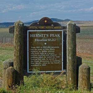 Sign about the hermit near Las Vegas