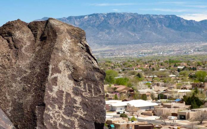 Albuquerque suburbs from Petroglyph National Monument