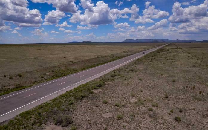 Highway 60 across the plains of San Agustin