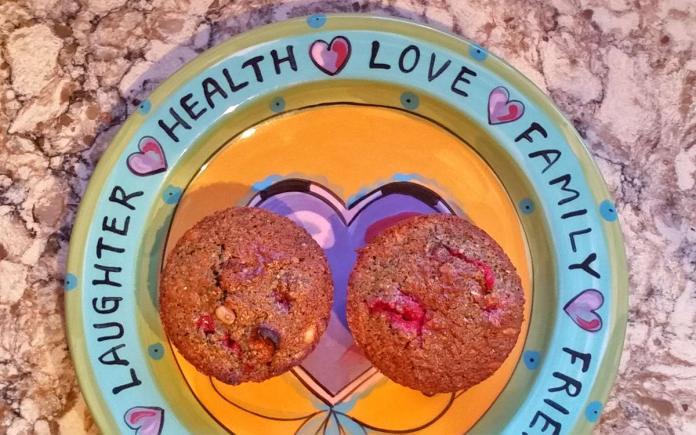 blue corn cranberry pinon muffins