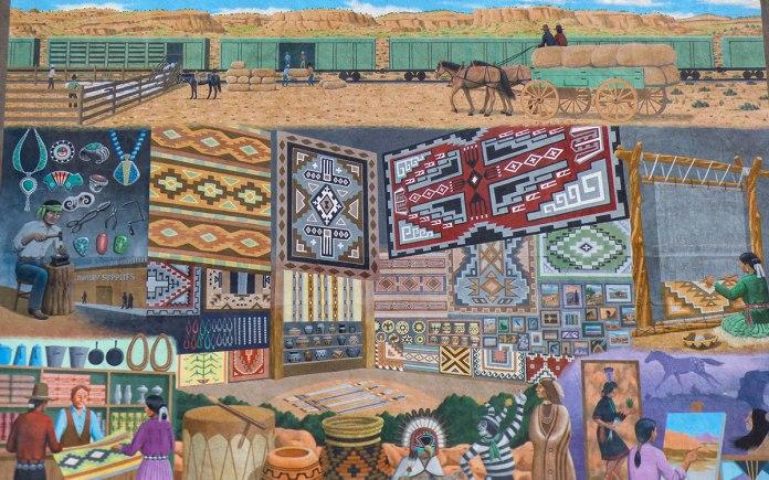 Native American Trading mural