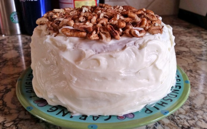 carrot cake side view