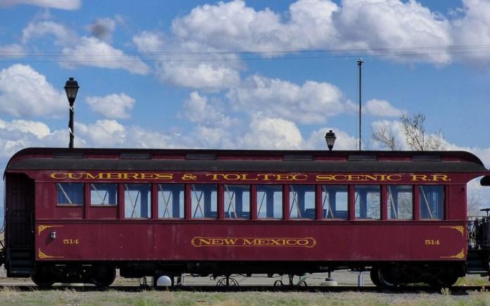 train car at the Antonito depot
