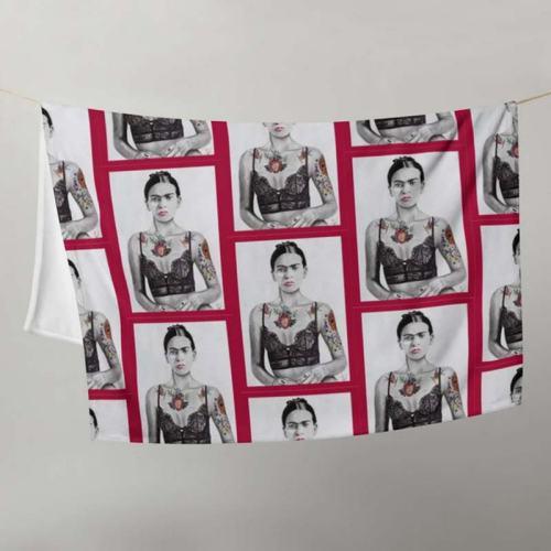 Anibel Montanez Frida Throw Blanket