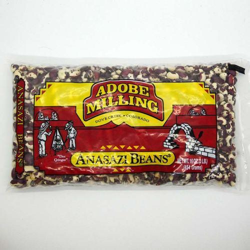 1-pound bag of Adobe Milling Anasazi Beans