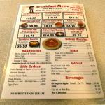 Gordo's Cafe menu