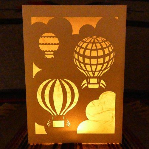 hot air balloon luminaria