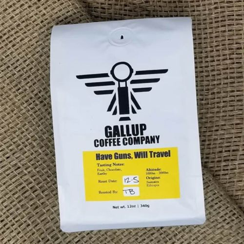 Gallup Coffee Company have guns will travel coffee