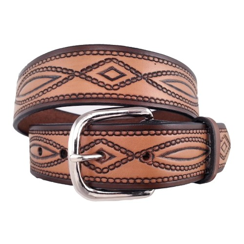 rope pattern belt antique