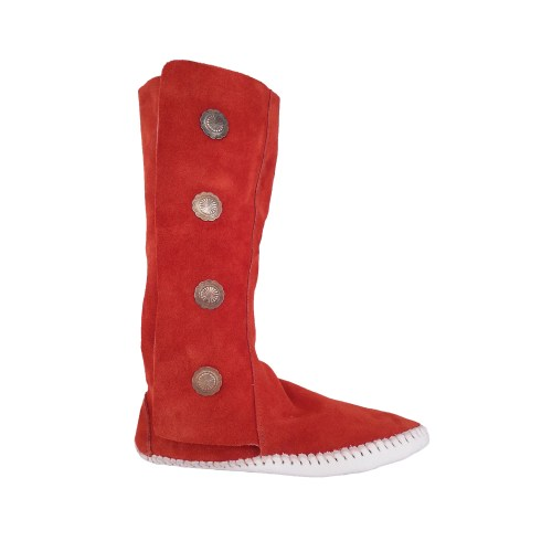 Women's Taos 4 Button Moccasins with Velcro