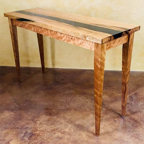 Cherry with Resin Table