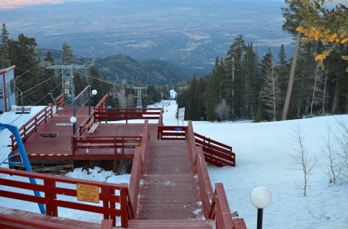 Looking down the other side of the Sandias from the Sandia Peak Tramway station.