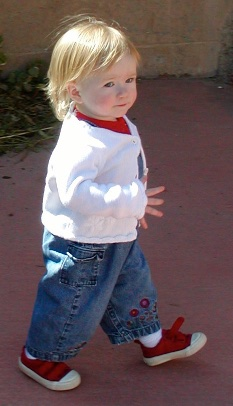 Kiley at the Albuquerque Zoo, February 22, 2004