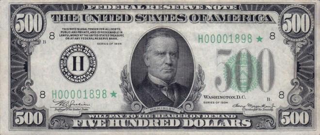 McKinley $500