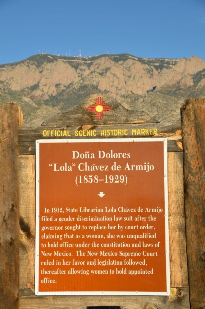 Randomly placed but significant historical marker along NM 556