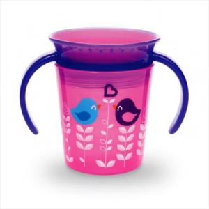 Munchkin Miracle Deco Trainer Cup Pink Bird