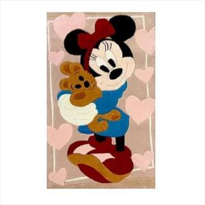 Χειροποίητο Χαλί Disney Minnie Mouse with Teddy Bear (69x108cm) DH017