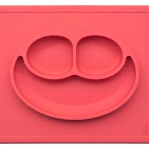 Ezpz Δίσκος και Πιάτο σε ένα Happy Mat in Coral