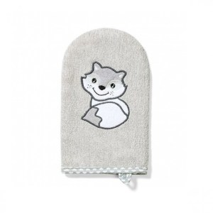 Babyono Γαντάκι Πλυσίματος Μωρού από Μπαμπού Γκρι