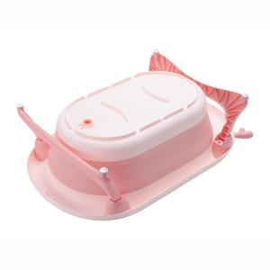 Πτυσσόμενη Μπανιέρα  Kikkaboo Foldy Pink (ΔΩΡΟ Σετ Χτένα και Βούρτσα Μαλλιών)