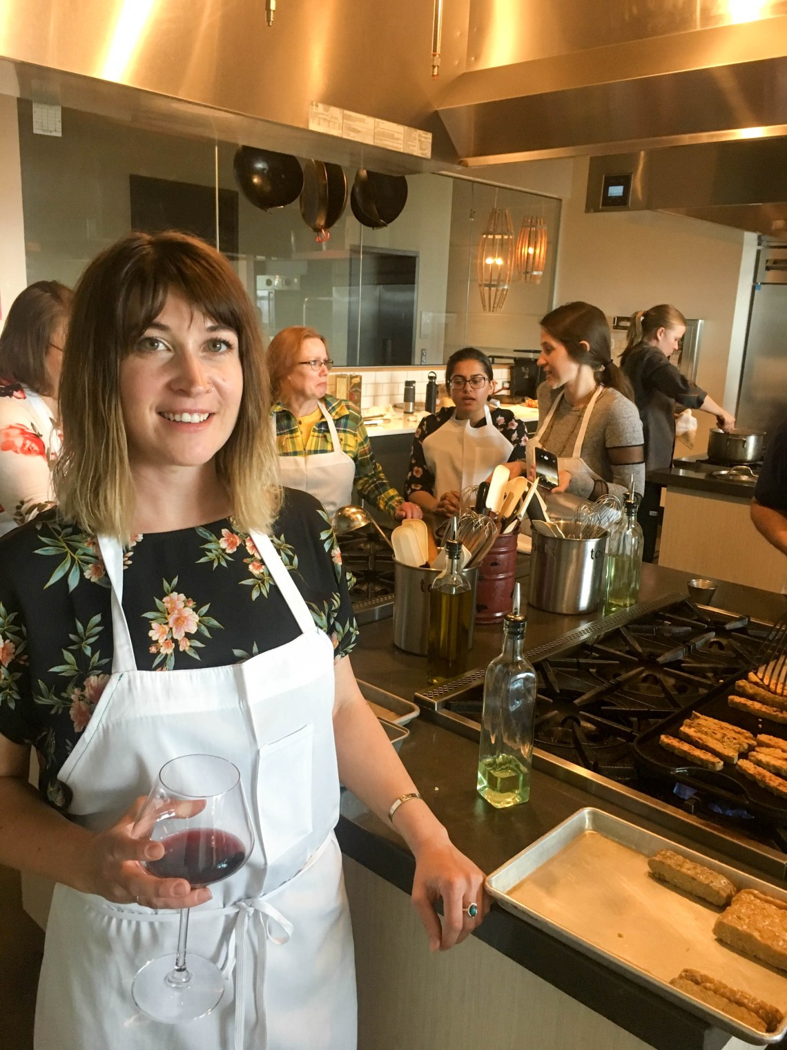 cooking class at uncorked kitchen