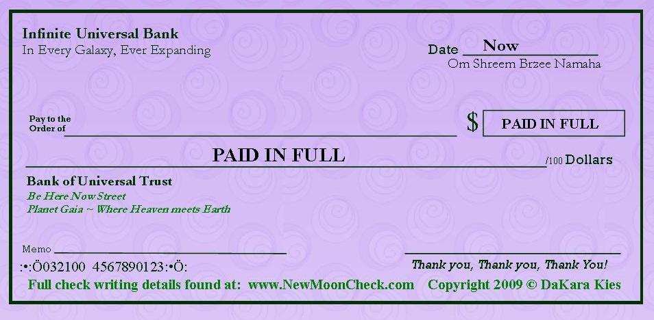 photo about Printable Abundance Check known as Abundance Assessments Refreshing Moon Manifesting Gain