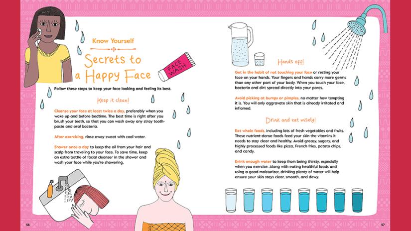 Girls Home Spa Lab book