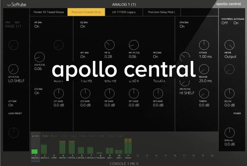 Softube Console 1 - Apolo Central