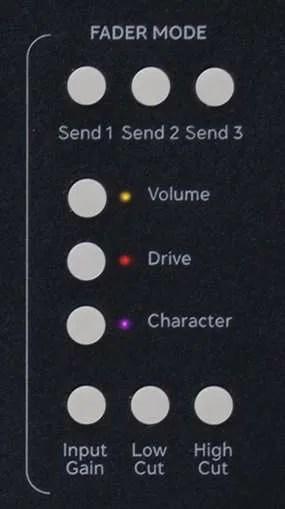 Softube Console-1-Fader- I pulsanti Fader Mode