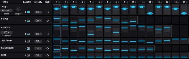 Arturia Pigments 2 - Il sequencer