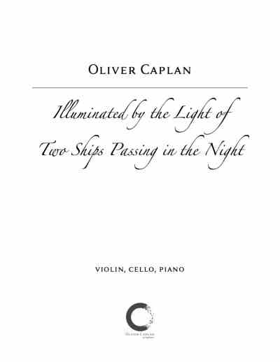 Caplan Illuminated by the Light of Two Ships Passing in the Night