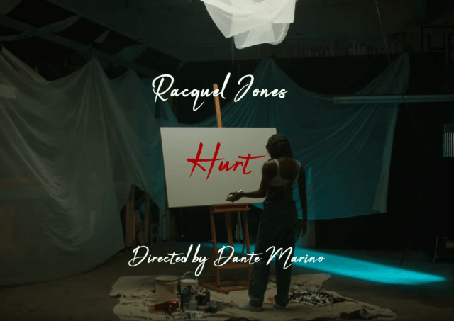 """Rapper, Painter, and Model  RACQUEL JONES Unveils Visual Artist Process As She Creates Artwork On Video for """"HURT"""""""