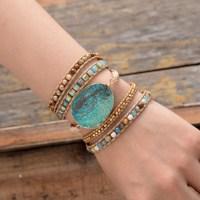 Bracelet en pierres naturelles et Jaspe vert