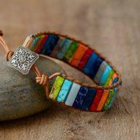 Bracelet aux chakras en pierres naturelles