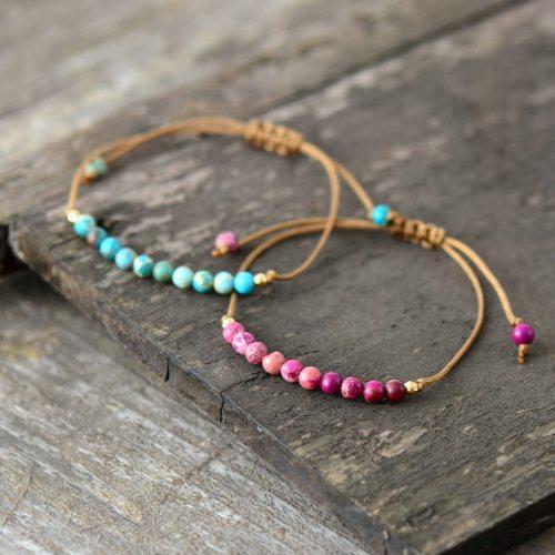 Boho-Bracelet-Unique-Natural-Stone-Simple-String-Bracelet-Friendship-Bead-Strand-ing-Jewelry