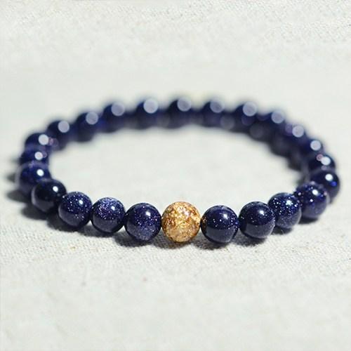 Lover-s-Gifts-Natural-Blue-Sandstone-Beads-Bracelet-Elastic-Charm-Strand-Bracelets-For-Men-Women-Vintage