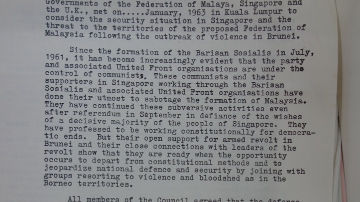 Excerpt of text from Internal Security Council communique,
