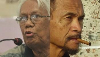 The faces of Putu Oka and Goenawan
