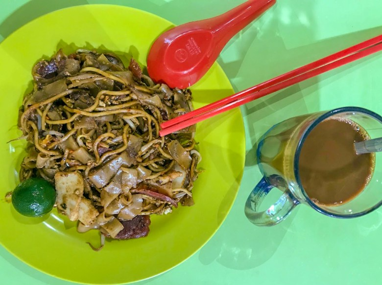 A plate of Char Kway Teow