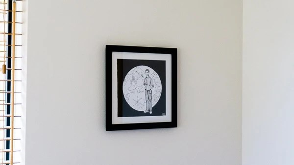 Maryam Mirzakhani Original Artwork - Black Frame